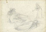 TOMMASO MINARDI, A Composition with Figures, black chalk