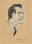 UMBERTO ONORATO, Caricatural Portrait of Luchino Visconti, black ink