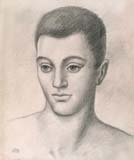 UBALDO OPPI, Portrait of a Young Man, black chalk