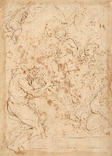 PAOLO PAGANI, The Virgin and Child with Saints, pen