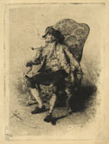 ELEUTERIO PAGLIANO, The Smoker, etching