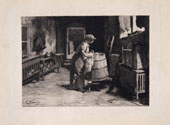 ELEUTERIO PAGLIANO, The Laundry, etching