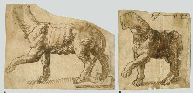 Anonymous 16th century artist, two studies after a sculpture