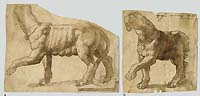 Anonymous Artist, late 16th century, Two studies after a sculpture, pen and ink