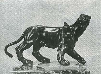 Pacing Female Panther, bronze