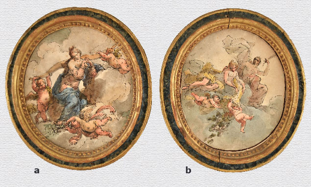Pedrini, a pair of allegorical drawings