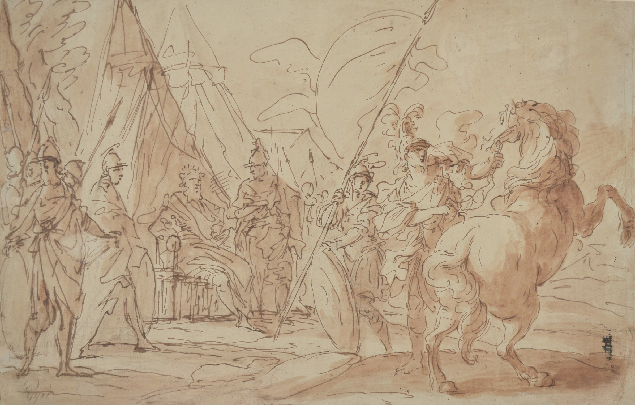Giuseppe Piattoli, Scene in an ancient military camp