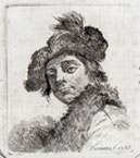GIOVANNI BATTISTA PIAZZETTA, Self-portrait, etching