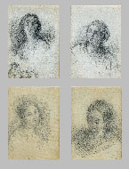 IL PICCIO, Four Female Portraits, black chalk