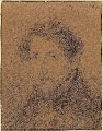 GIOVANNI CARNOVALI called IL PICCIO, Self Portrait, black chalk