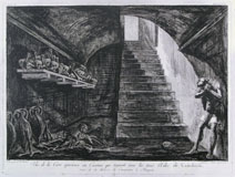 FRANCESCO PIRANESI, Vue de la Cave Spacieuse, etching