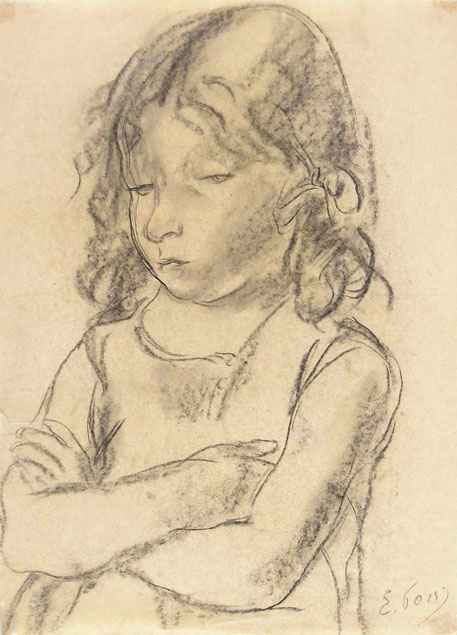 Ennio Pozzi, child with crossed arms