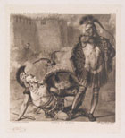 LUIGI RATINI, The Death of Turno, photogravure