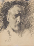 ARTURO RIETTI, Self-portrait, black chalk
