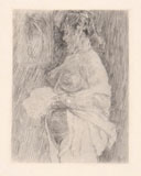 FÉLICIEN ROPS, le Major est si difficile, etching and drypoint, II/3