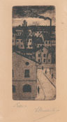 LUIGI RUSSOLO, Roofs, etching