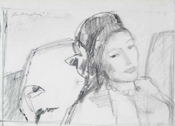 Aldo Salvadori, girl with a hat