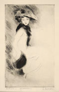 LINO SELVATICO, Autunno, drypoint