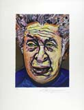 DAVID ALFARO SIQUEIROS, Self-portrait, colour lithograph