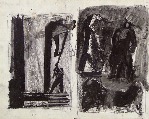 Mario Sironi, two compositional studies