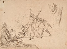 DOMENICO GARGIULO called MICCO SPADARO, Sketch for the Martyrdom of St. Andrew