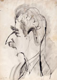ORFEO TAMBURI, Caricatural Self-portrait, pen and brush