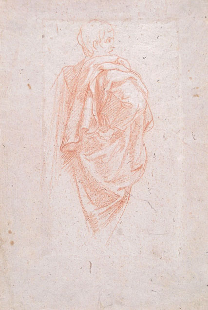 Volterrano, study of a draped male figure