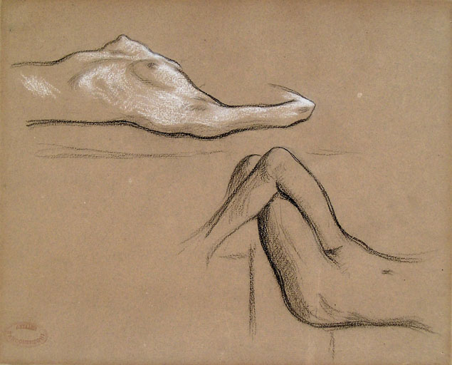 Federico Zandomeneghi, study of two female nudes
