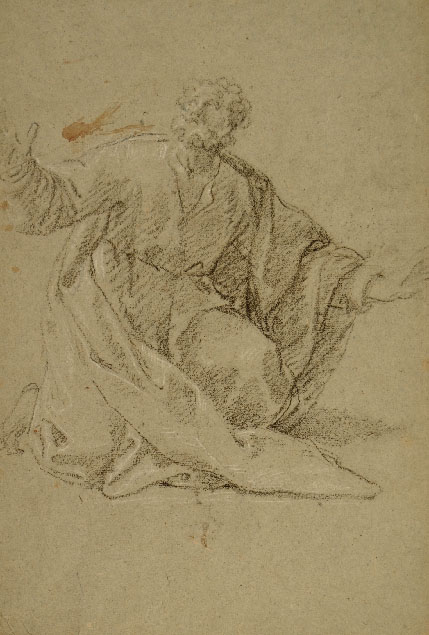 Giacomo Zoboli, two studies for his altarpiece in Duomo Nuovo, Brescia