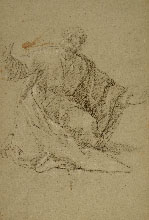 GIACOMO ZOBOLI, Studies for l'Assunta in the Duomo Nuovo in Brescia, black chalk