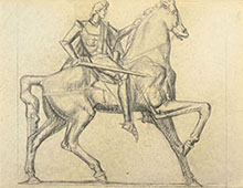 STUDY FOR AN EQUESTRIAN MONUMENT, IN PROFILE
