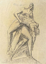 STUDY FOR A MONUMENT WITH TWO FIGURES