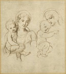 TWO STUDIES FOR A WOMAN HOLDING A BABY