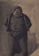 CARICATURE PORTRAIT OF A CORPULENT MAN
