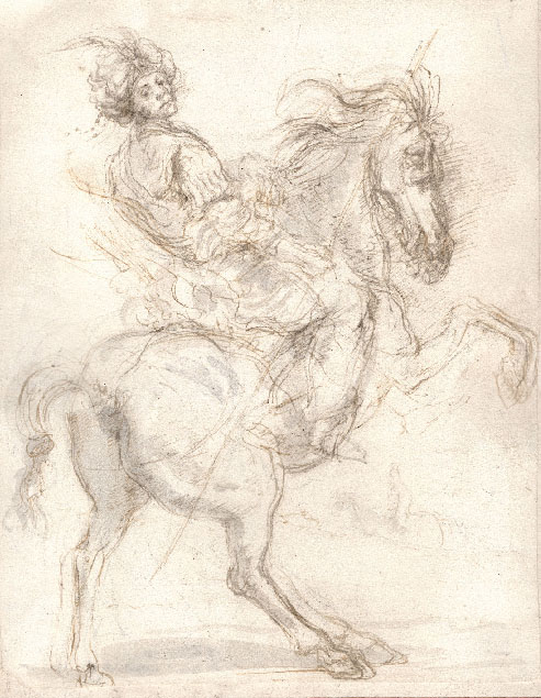 A TURKISH HORSEMAN A forgery in the style of Stefano Della Bella