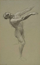 MALE STANDING FIGURE SCREAMING