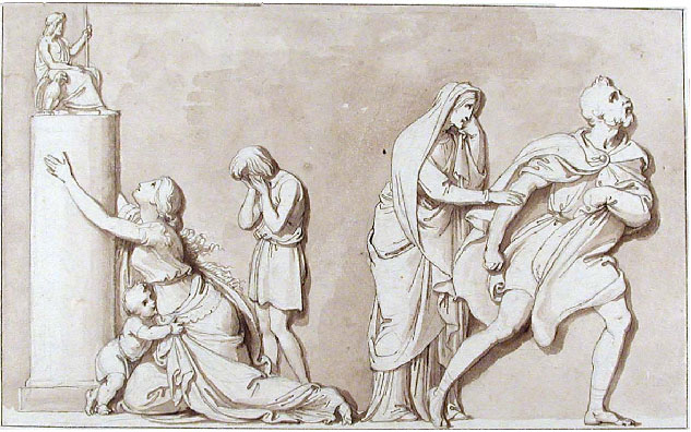 DESIGN FOR A FRIEZE WITH CLASSICAL FIGURES
