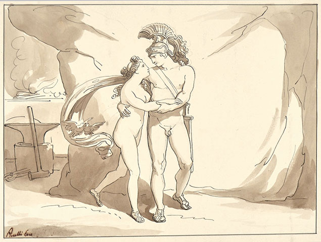 ARES AND APHRODITE IN HEPHAESTUS' WORKSHOP
