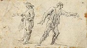 SKETCHES OF TWO STANDING MEN