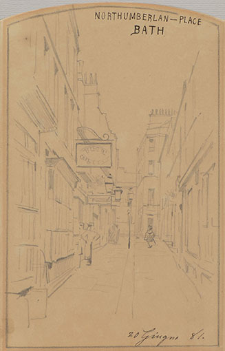 VIEW OF NORTHUMBERLAND PLACE, BATH, 1881